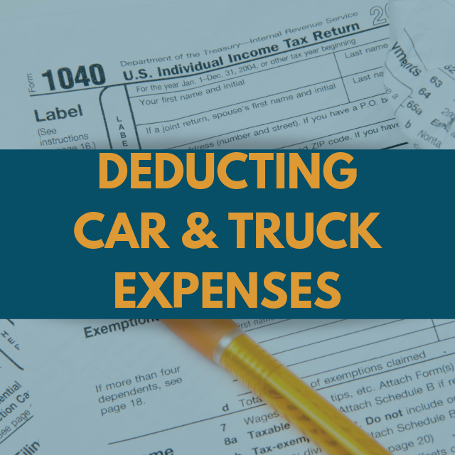 Car and Truck Expense Deduction