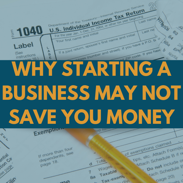 Tax Strategy: Starting A Business To Lower Tax
